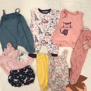 Bundle of infant clothes 0-3M